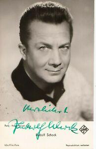 Rudolf Schock+ - original signierte schöne UFA Autogrammkarte R.Sch.2