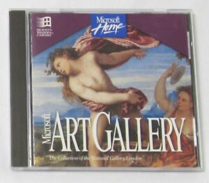 Microsoft Art Gallery (1994, Win 95 PC CD-ROM) Software Home London National