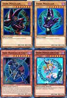 All Holos 4_cards Set* Dark Magician_Dark Magician Girl_of chaos YuGiOh YGLD New