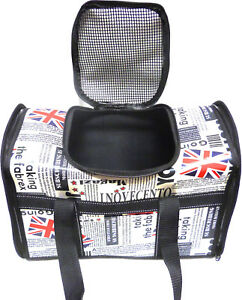 Union Jack Pet Carrier Dog Cat Puppy Travel Bag Cage Crate Tote Foldable Leisure
