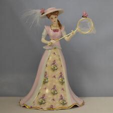 In the Butterfly Garden Elegant Era Victorian Lena Liu Bell Figurine Bradford