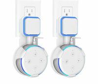 2X Outlet Wall Mount Bracket Holder for Amazon Echo Dot 3rd Gen Smart Speaker