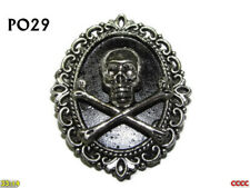 steampunk gothic brooch badge pin skull crossbones pirate Black Sails #PO29