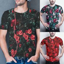 T-shirts à motif Floral polyester pour homme