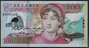Polymer Test Note De La Rue, Arabic Prefix Serial Number Test, Portrait Austen