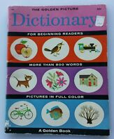 The Golden Picture Dictionary 1965 Edition by Lilian Moore Color Illustrations