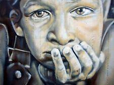 ART PRINT POSTER pittura disegno Street Graffiti Ritratto Berlino lfmp1116
