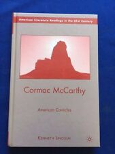 CORMAC MCCARTHY. AMERICAN CANTICLES - FIRST EDITION BY KENNETH LINCOLN