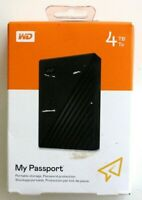 WD 4TB Black My Passport Portable External Hard Drive - USB 3.0 Brand New A1