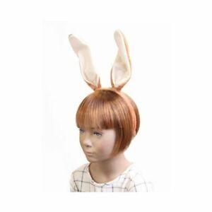 Brown Cream Bunny Rabbit Ears Headband Alice Band Fancy Dress Party Accessory UK