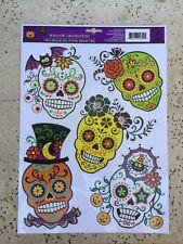 Sugar Skull Day Of The Dead Dia De Los Muertos Window Cling Halloween Decoration
