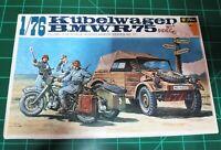 FUJIMI FiKit#wa11 German W.W.II Kubelwagen & BMW R75 w/ Sidecar  1:76 Scale Kit