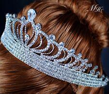 Royal Clear Rhinestones Tiara Crown Crystal Headband Wedding Pageant Prom Party