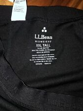 NWT LL Bean Mens Lightweight Polartec BlacK Thermals Snow Baselayer Pants  XXL