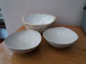 Olivier Jeffries/ JoJo Corvaia Studio/art Handmade Pottery Bowls