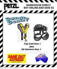 Bundle Deal Petzl AVAO Sit Harness Size 1 + Petzl Top Croll Size 1 Chest Harness