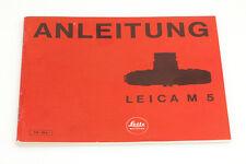 Leica M5 Bedienungsanleitung in deutsch