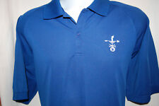 Port Authority Cool Plus Wicking Blue 2 Button Polo Golf Shirt Mens Large