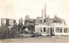 1909 Larches Mansion Fire Disaster RPPC Postcard George Otis Draper Hopedale MA