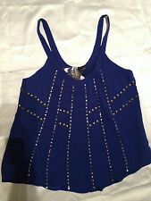 LADAKH GORGEOUS COBALT BLUE TOP SIZE 8 EDGE  ~ BRAND NEW with TAGS