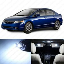 6 x White LED Lights Interior Package For Honda CIVIC Coupe & Sedan 2006-2012
