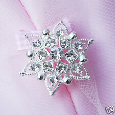 10 Round Rhinestone Crystal Button Buckle Wedding Invitation Scrapbooking BT086