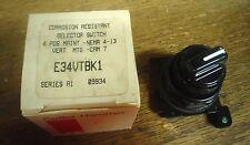 Cutler-Hammer selector switch E34VTBK1  60 day warranty