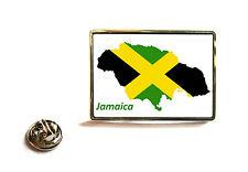 GIAMAICA giamaicano Bandiera Mappa DISTINTIVO DI Lapel Pin FERMACRAVATTA REGALO