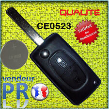 CE0523 COQUE CLE TELECOMMANDE PLIP Citroen JUMPER SAXO C1 C2 C3 C4 C5 C6 PICASSO