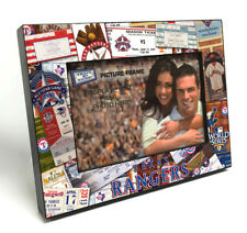 More details for texas rangers ticket collage black wood edge 4x6 inch picture frame