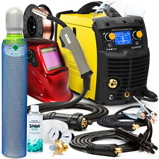 Magnum 211 MIG welder 200A Welding machine Predefined settings Gas bottle Helmet