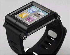 (Black) LunaTik Aluminum Multi-Touch Watch Band For iPod Nano 6/6th