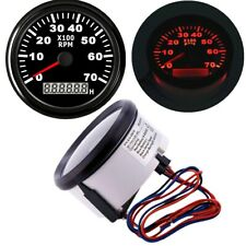 85mm Digital Tachometer Gauge 7000RPM with Wiring harness Curved Anti-fog Glass