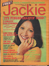 Jackie Magazine 22 October 1977 No.720    Gareth Hunt    David Essex    Alessi