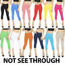 Womens Cropped 3/4 Capri Length Leggings Summer 100% Genuine Cotton
