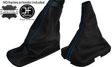 BLUE STITCH REAL LEATHER GEAR & HANDBRAKE GAITER FITS VOLVO S40 V50 2004-2012