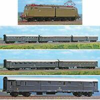 """ACME """"treno diretto""""  E646 022 castano isabella + 6 carrozze Grigio Ardesia FS"""