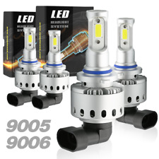 9005+9006 LED Combo Headlight Kit Total 3000W 450000LM Light Bulbs 6000K