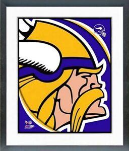 """Minnesota Vikings NFL Team Logo Composite Photo (Size: 12.5"""" x 15.5"""") Framed"""