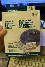 WRAP-ON 14040 Roof & Gutter Cable, Gray, 40-Ft.