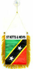 """St. Kitts and Nevis Mini Flag 4""""x6"""" Window Banner w/ suction cup"""