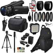 Sony FDR-AX100 4K Ultra HD Camcorder w/ Accessories - 192GB, Backpack, LED, More