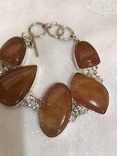 """925 Sterling Silver Handmade Jewelry Carnelian Gemstone Bracelet 7-8"""" 22024637"""