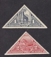 Nyassa - 1924 - Postage Due - Set of 8 - SG/D133 to 140 - MH (N81)