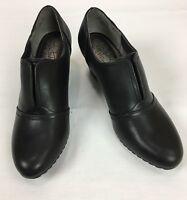 Life Stride Womens Size 10 Black Wedge Heel Career Dress Shoes Slip On New
