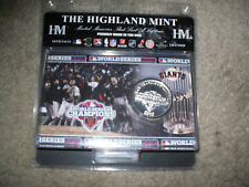 San Francisco Giants World Series Champions Silver Coin & Card Highland Mint New