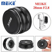 Meike 28mm f/2.8-22 Manual Focus Fixed Lens for Fuji X Mount Digital Cameras ZZ