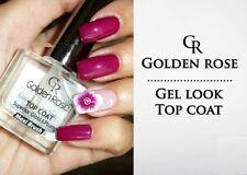 GOLDEN ROSE Top Coat GEL LOOK Effect Superior Gloss & Pump Maxi Brush Clear
