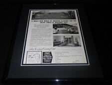 1961 Port St Lucie Florida Tourism 11x14 Framed ORIGINAL Vintage Advertisement