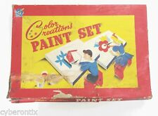 1930s Color Creations Art Painting Set Vintage Toy Creation 1940s Watercolors